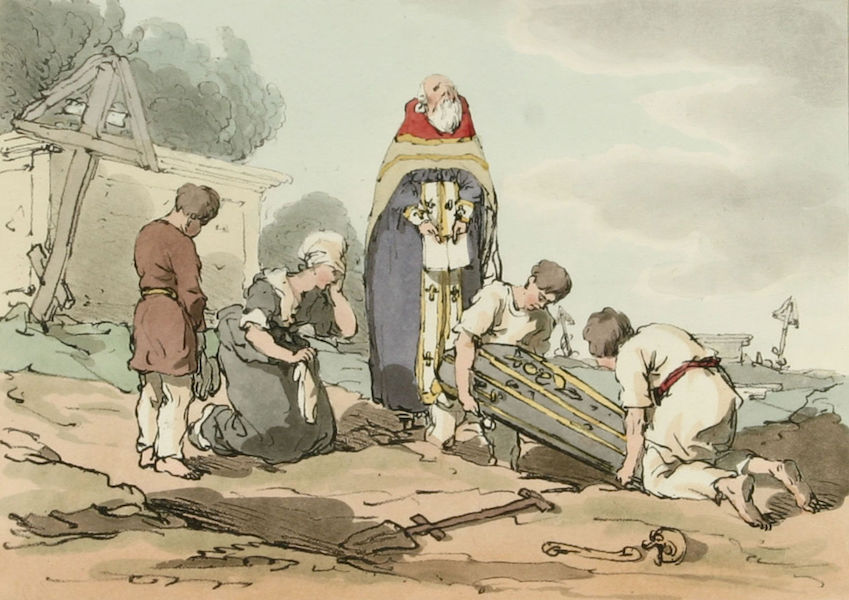 A Picturesque Representation of the Russians Vol. 3 - Burial (1804)