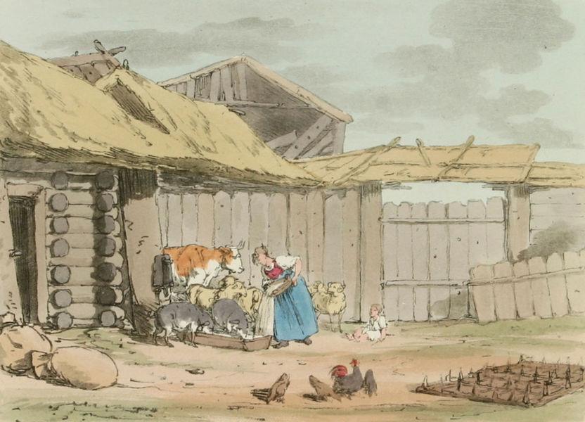 A Picturesque Representation of the Russians Vol. 3 - Farm Yard (1804)