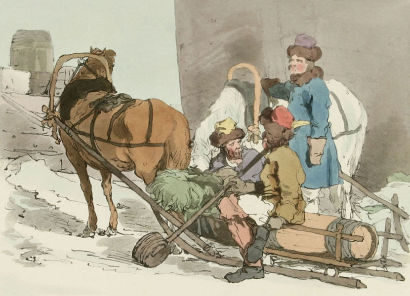 A Picturesque Representation of the Russians Vol. 3 - Fins bringing live fish to Market (1804)