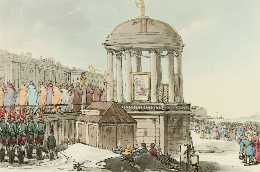 A Picturesque Representation of the Russians Vol. 3 - Consecration of the Waters (1804)