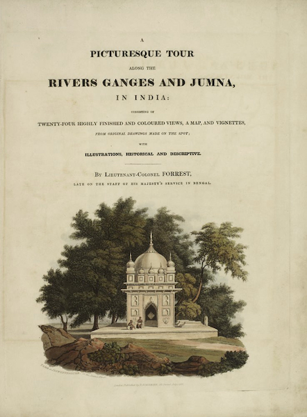 A Picturesque Tour Along the Rivers Ganges and Jumna, in India - Title Page (1824)