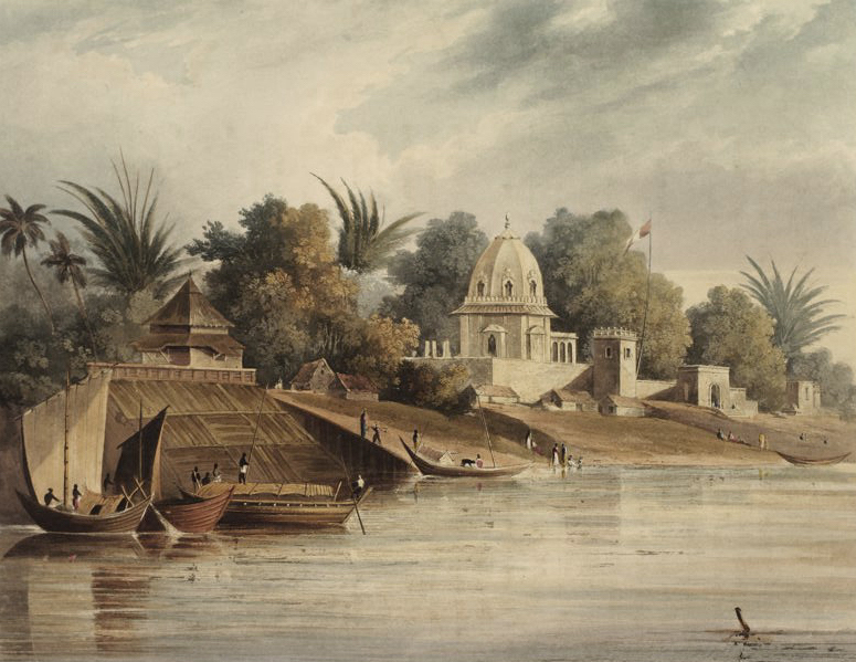 A Picturesque Tour Along the Rivers Ganges and Jumna, in India - Part of the City of Moorshedabad, ancient capital of Bengal (1824)