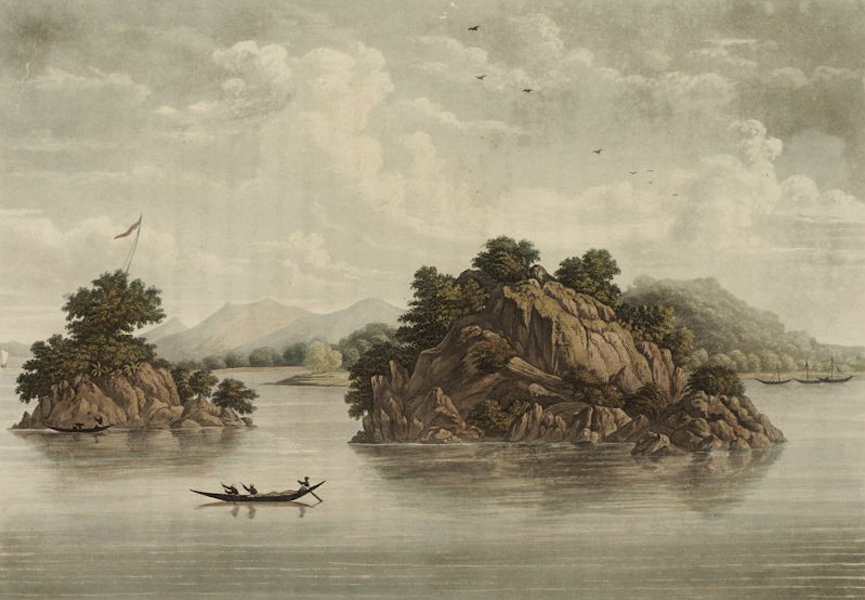 A Picturesque Tour Along the Rivers Ganges and Jumna, in India - The Rock of Colgong (1824)