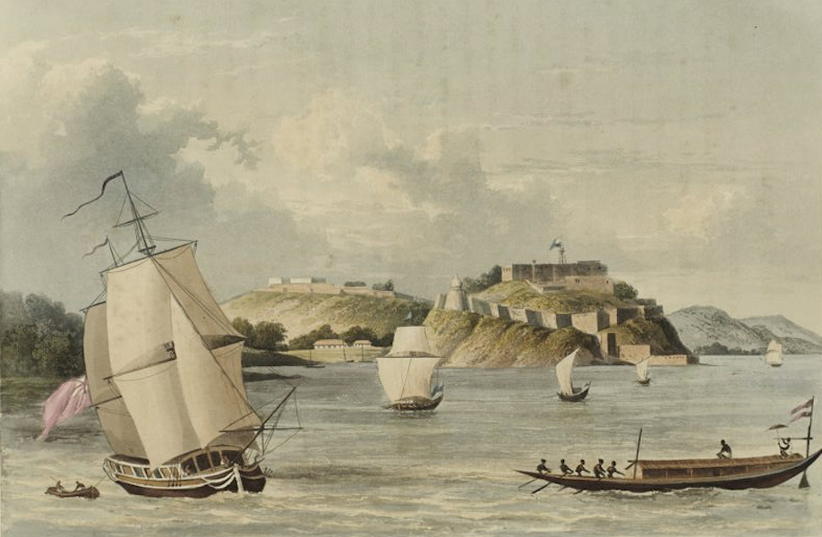 A Picturesque Tour Along the Rivers Ganges and Jumna, in India - The Indian Fort of Chunargurh on the Ganges (1824)