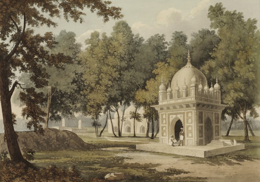 A Picturesque Tour Along the Rivers Ganges and Jumna, in India - Tombs of Etaya in the Dooab on the Jumna River (1824)