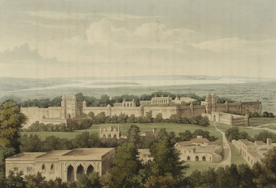A Picturesque Tour Along the Rivers Ganges and Jumna, in India - Palace of the King of Delhi, taken from the principal Mosque (1824)