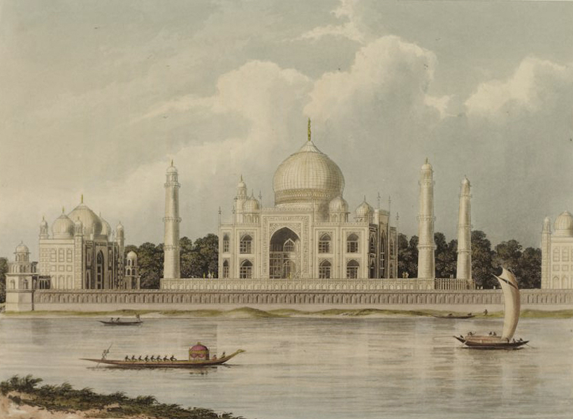 A Picturesque Tour Along the Rivers Ganges and Jumna, in India - The Taj Mahal, Tomb of the Emperor Shah Jehan and his Queen (1824)