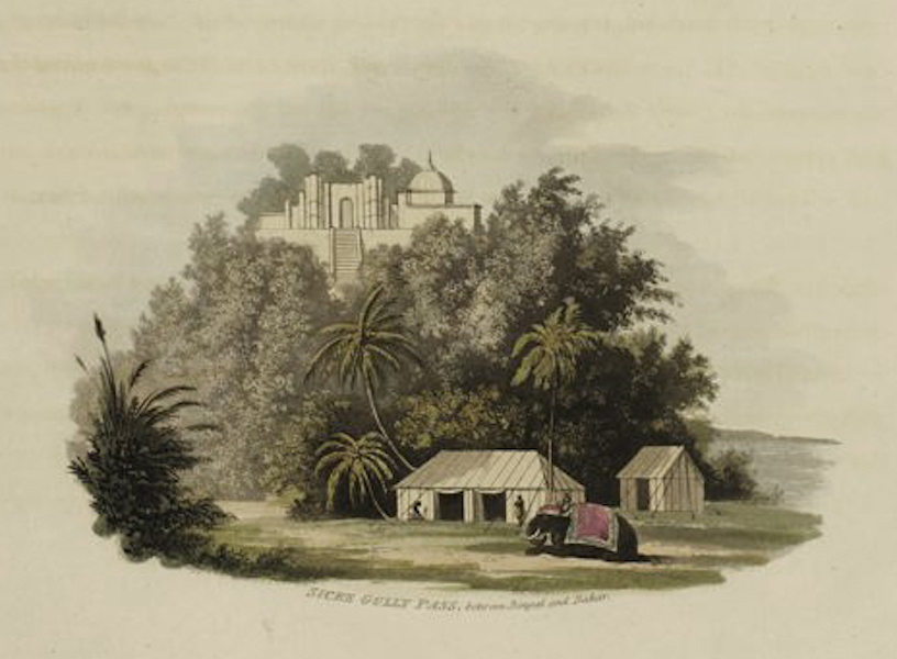 A Picturesque Tour Along the Rivers Ganges and Jumna, in India - Sicre Gully Pass between Begal and Bahar (1824)