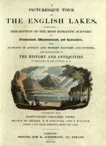 Aquatint & Lithography - A Picturesque Tour of the English Lakes