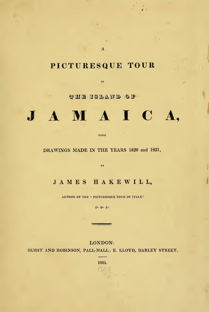 English - A Picturesque Tour of the Island of Jamaica