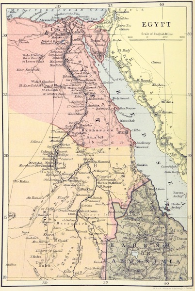 A Pilgrimage to Egypt - Egypt Map (1897)