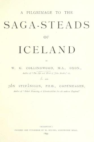 English - A Pilgrimage to the Saga-Steads of Iceland
