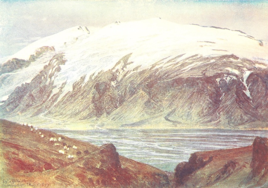 A Pilgrimage to the Saga-Steads of Iceland - Eyjafell from Barkarstadir (1899)