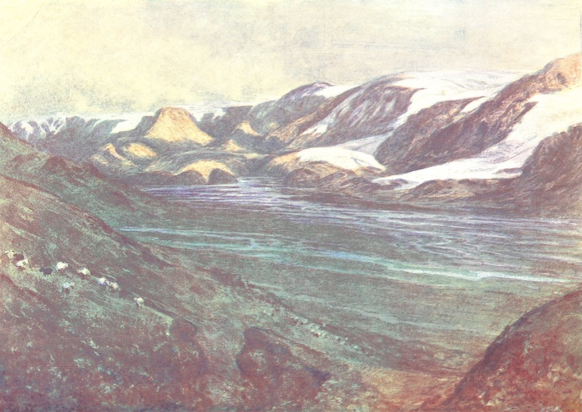 A Pilgrimage to the Saga-Steads of Iceland - Looking Up Thorsmork (1899)