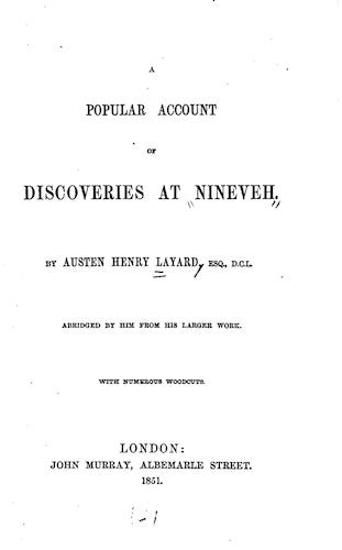 English - A Popular Account of Discoveries at Nineveh