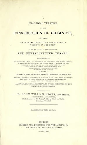 Aquatint & Lithography - A Practical Treatise on the Construction of Chimneys