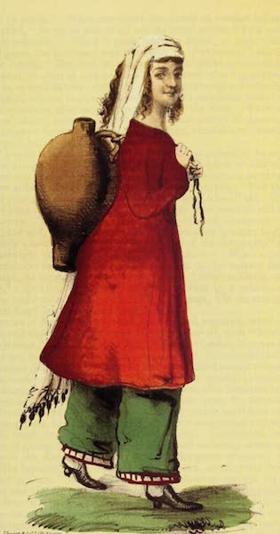 A Residence of Eight Years in Persia - A Nestorian Girl, carrying water (1843)