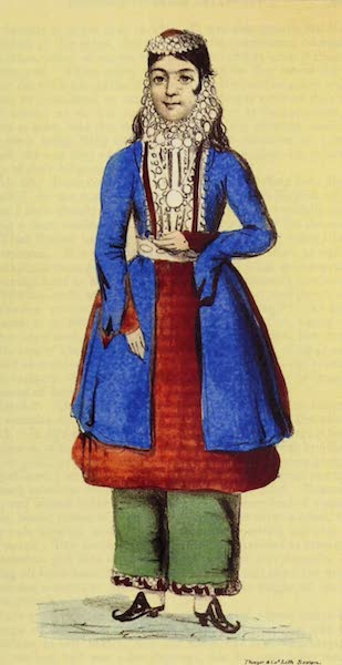 A Residence of Eight Years in Persia - A Nestorian Girl with her ornaments (1843)