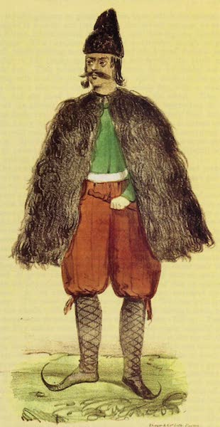 A Residence of Eight Years in Persia - A Persian Muleteer, with his Winter Cloak of Goatskin (1843)