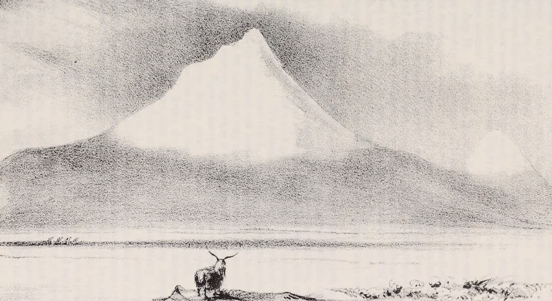 A Residence of Eight Years in Persia - Mt. Ararat, as seen from the West or Turkish Side (1843)