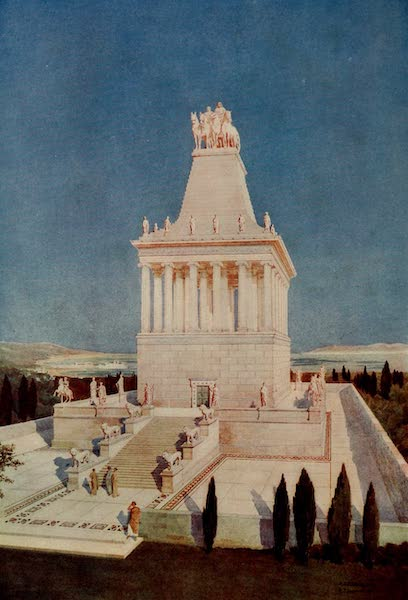 A Restoration of the Mausoleum at Halicarnassus - Mausoleum of Halicarnassus (1909)
