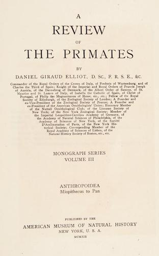 English - A Review of the Primates Vol. 3