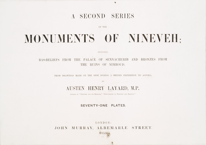 English - A Second Series of the Monuments of Nineveh