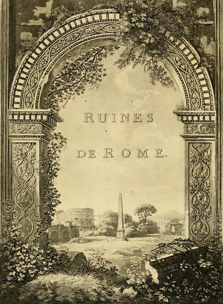 A Select Collection of Views and Ruins in Rome - Illustrated Title Page (1815)