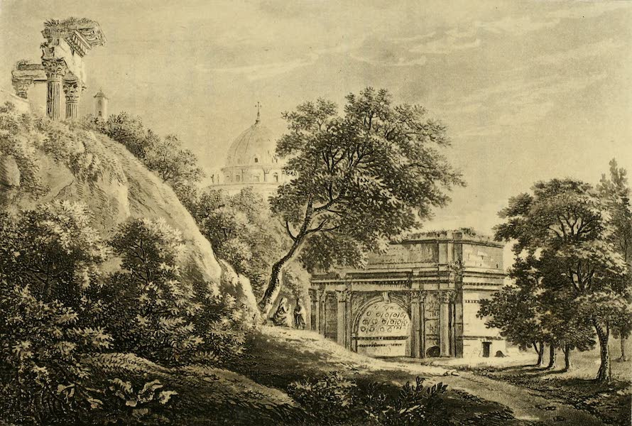 A Select Collection of Views and Ruins in Rome - Arch of Septimus Severus (1815)