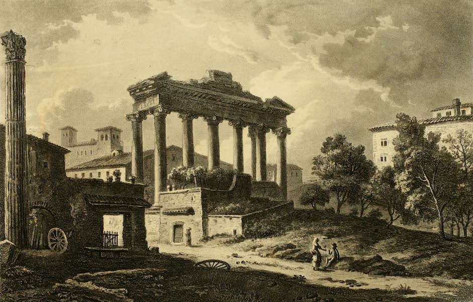 A Select Collection of Views and Ruins in Rome - The Temple of Concord (1815)