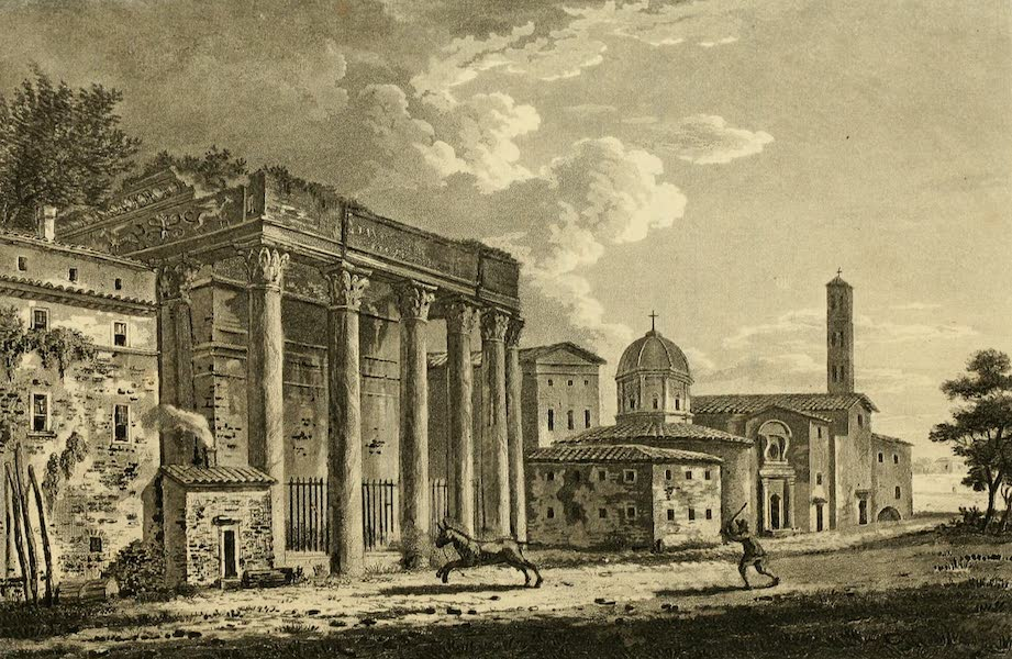 A Select Collection of Views and Ruins in Rome - Temple of Antonius and Faustina (1815)