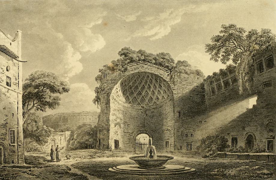 A Select Collection of Views and Ruins in Rome - Temple of the Sun and Moon (1815)
