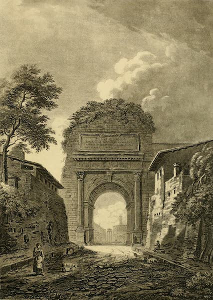 A Select Collection of Views and Ruins in Rome - Titus's Arch (1815)