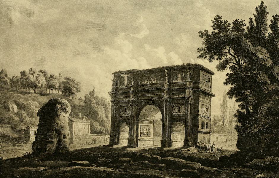 A Select Collection of Views and Ruins in Rome - Constantine's Arch (1815)