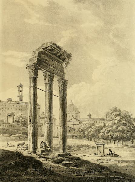 A Select Collection of Views and Ruins in Rome - Remains of the Temple of Jupiter Stator (1815)