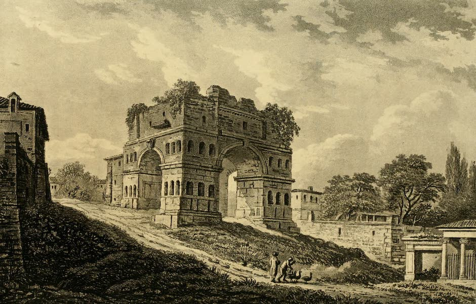 A Select Collection of Views and Ruins in Rome - Janus's Arch (1815)