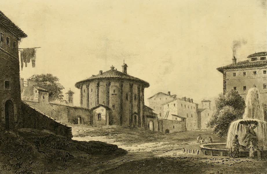 A Select Collection of Views and Ruins in Rome - Temple of Vesta (1815)