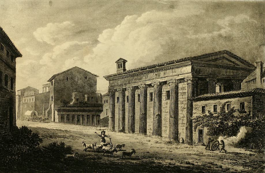 A Select Collection of Views and Ruins in Rome - Temple of Fortuna Virilis (1815)