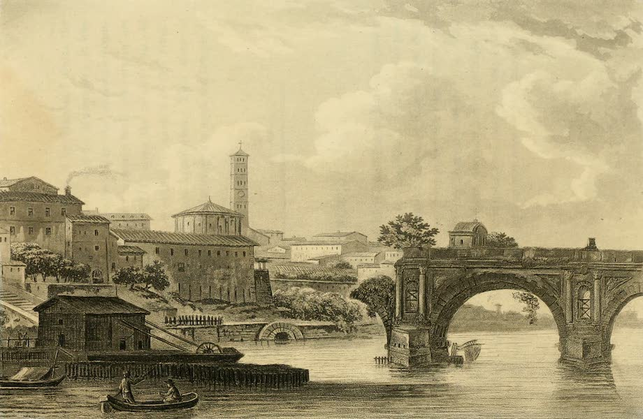 A Select Collection of Views and Ruins in Rome - Ponte Rotto (1815)