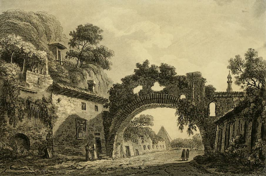 A Select Collection of Views and Ruins in Rome - Arch of St. Lazare (1815)