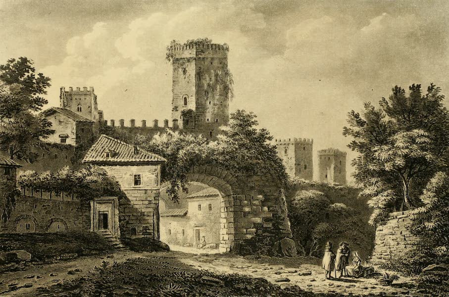 A Select Collection of Views and Ruins in Rome - Latin Gate (1815)
