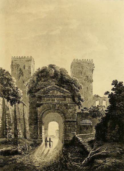 A Select Collection of Views and Ruins in Rome - The Gate of St. Sebastian (1815)