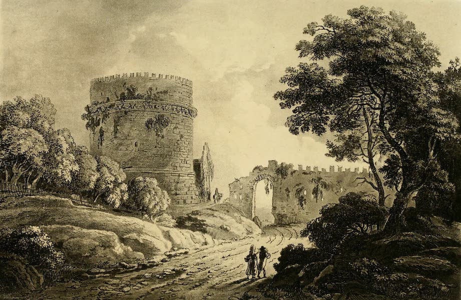 A Select Collection of Views and Ruins in Rome - The Tomb of Cecilia Matella (1815)