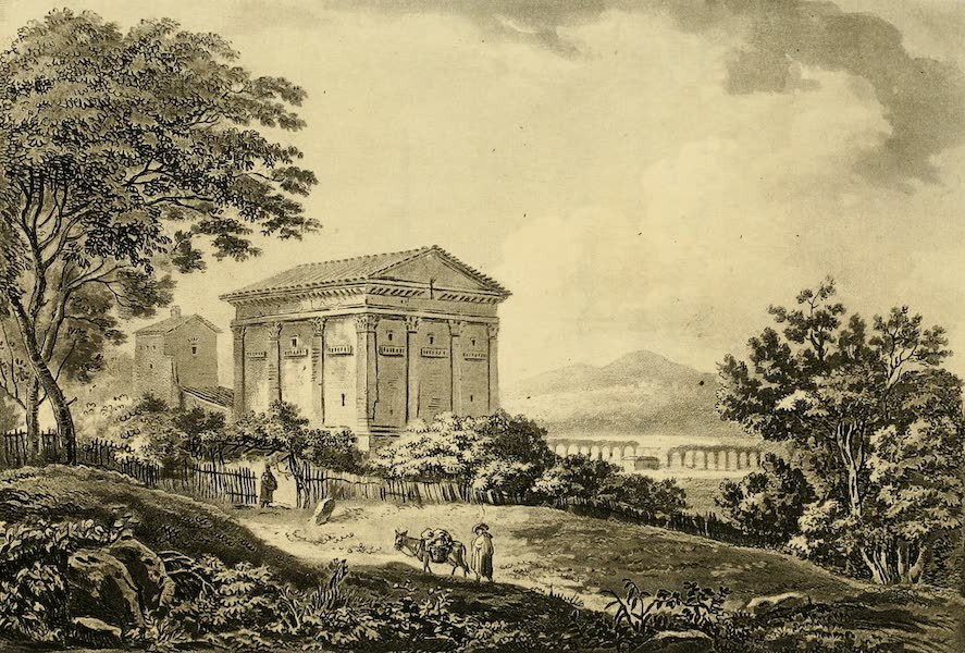 A Select Collection of Views and Ruins in Rome - Temple of the God Rediculus (1815)