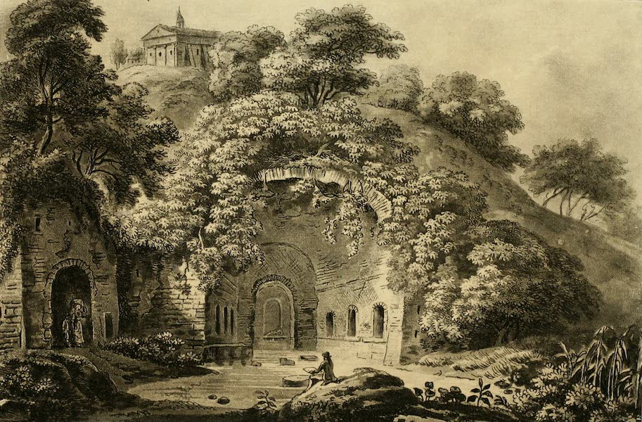 A Select Collection of Views and Ruins in Rome - Fountain of the Nymph Egeria (1815)