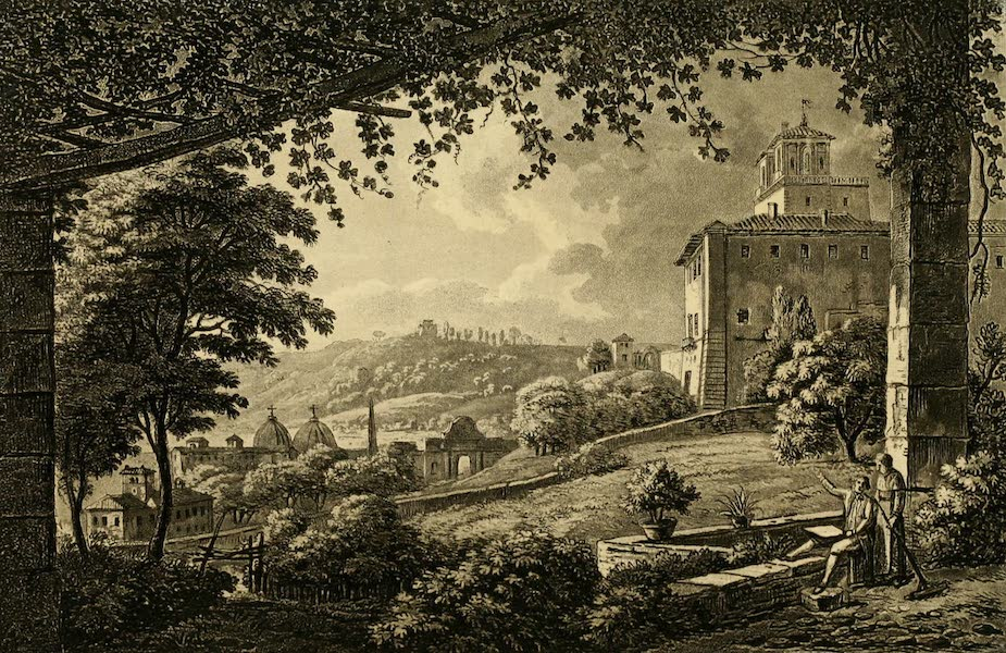 A Select Collection of Views and Ruins in Rome - Villa Medicis (1815)