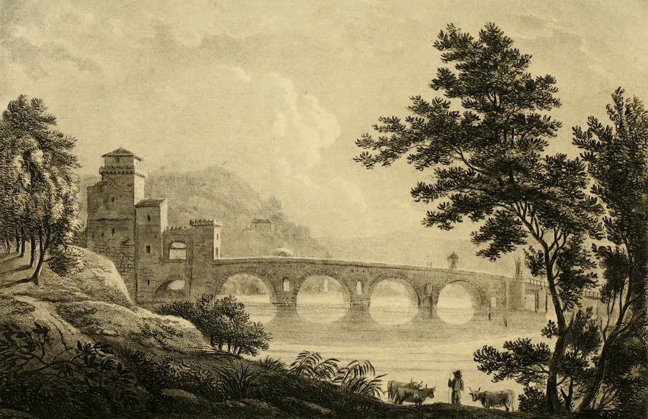 A Select Collection of Views and Ruins in Rome - Ponte Mole (1815)