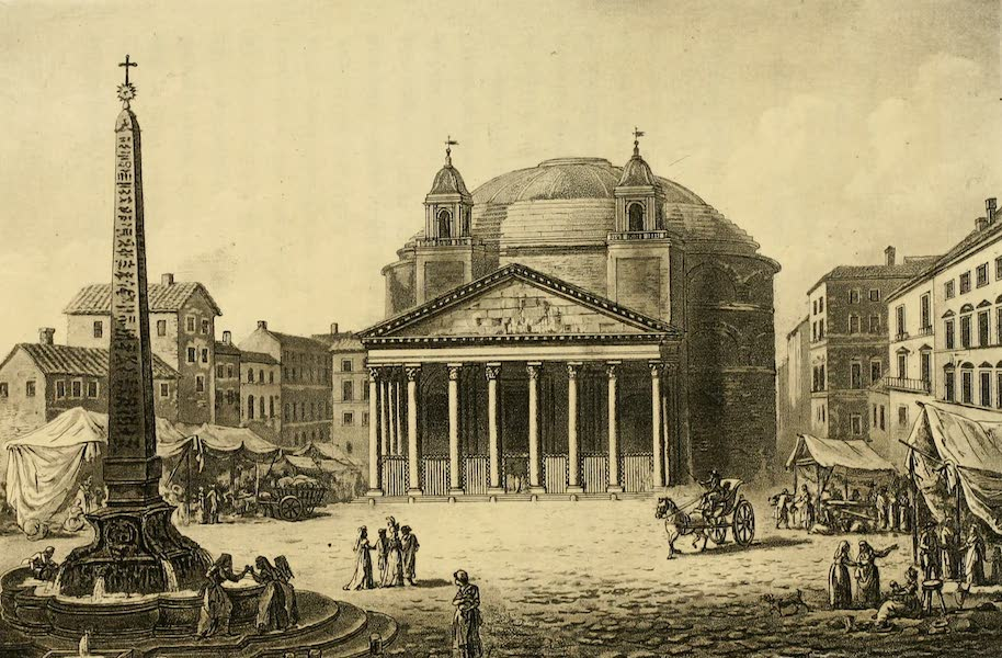 A Select Collection of Views and Ruins in Rome - The Pantheon (1815)
