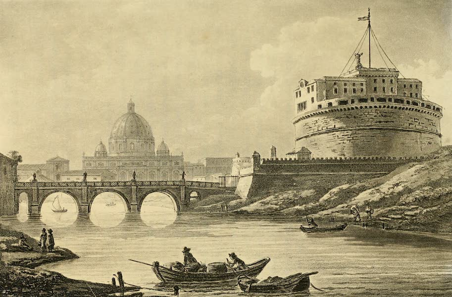 A Select Collection of Views and Ruins in Rome - Ponte St. Angelo (1815)