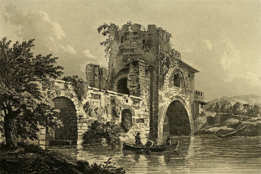 A Select Collection of Views and Ruins in Rome - Ponte Nomentano (1815)